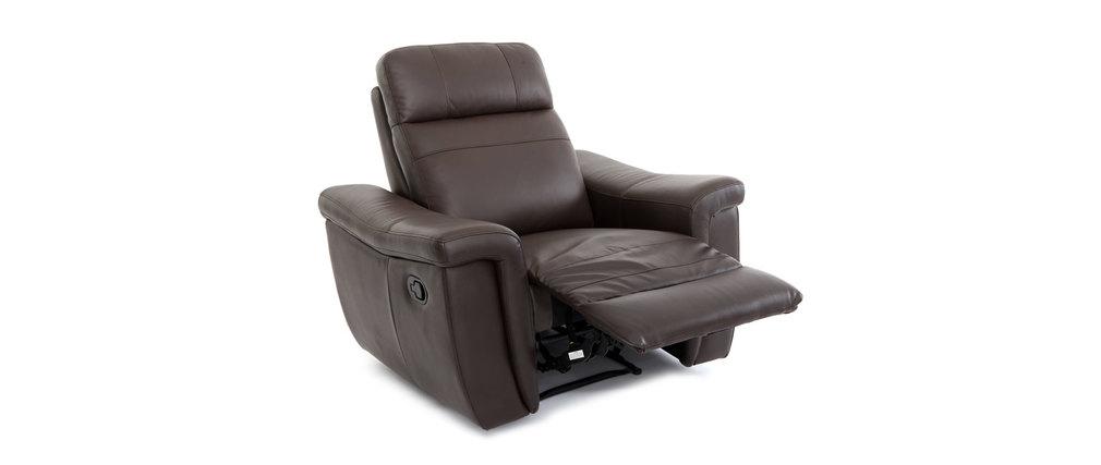 fauteuil design relax en cuir marron rockford cuir de. Black Bedroom Furniture Sets. Home Design Ideas
