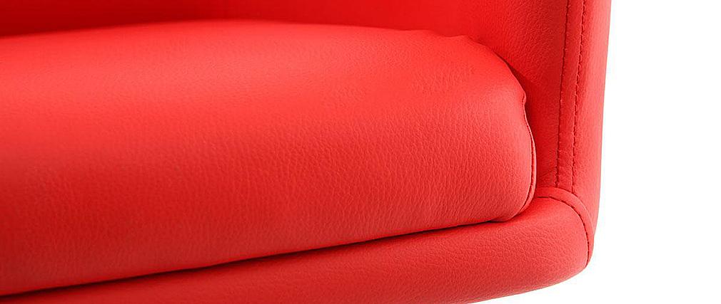 Fauteuil design rouge tory miliboo - Fauteuil rouge design ...