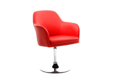 Fauteuil design rouge TORY