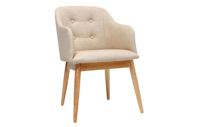 fauteuil design scandinave bois tissu naturel baltik miliboo. Black Bedroom Furniture Sets. Home Design Ideas