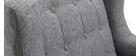 Fauteuil design scandinave gris foncé et bois clair BRIGHTON