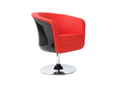 Fauteuil design TEDDY ABS rouge et noir