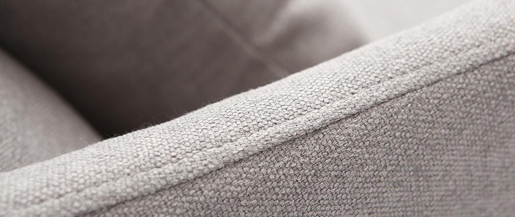 Fauteuil design tissu gris et frêne NORI