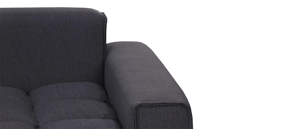 Fauteuil design tissu gris foncé MELLOW