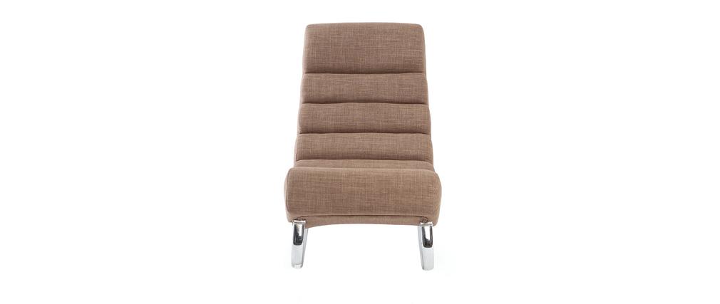 fauteuil design tissu taupe rocking chair taylor miliboo. Black Bedroom Furniture Sets. Home Design Ideas