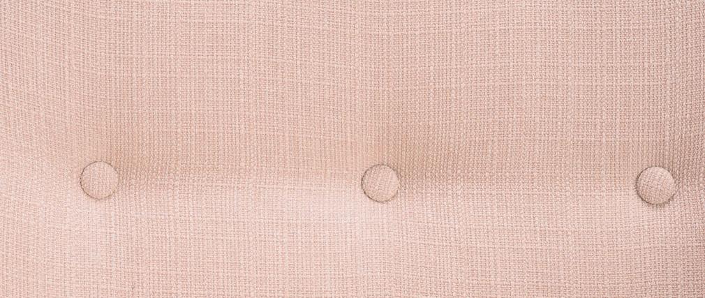 Fauteuil design tissu vieux rose pieds bois clair OLAF