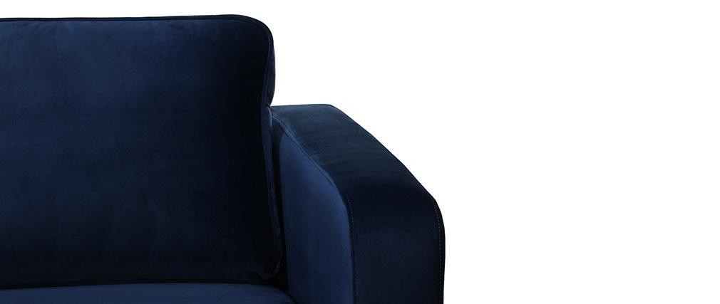 Fauteuil design velours bleu nuit HARRY