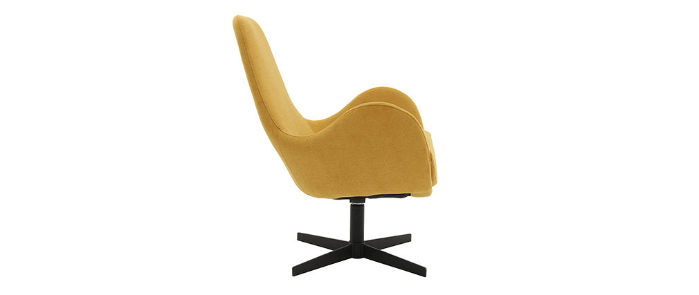 Fauteuil design velours jaune moutarde ANDY - Miliboo & Stéphane Plaza