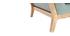 Fauteuil design vert lagon pieds bois YOKO