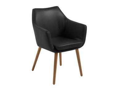Fauteuil design vintage noir EATHER