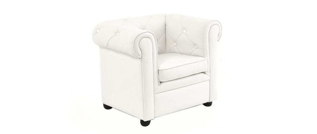 Fauteuil enfant blanc -  BABY CHESTERFIELD