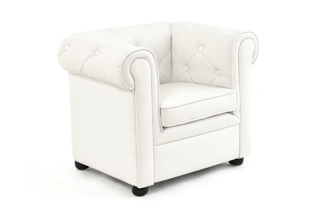 Kinder Chesterfield Fauteuil.Fauteuil Enfant Blanc Baby Chesterfield Miliboo