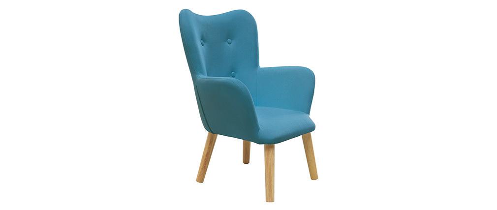 Fauteuil enfant design bleu canard BABY BRISTOL