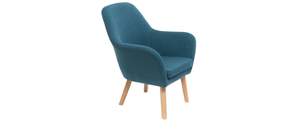 Fauteuil enfant design bleu canard BABY MIRA