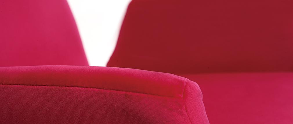Fauteuil enfant design pivotant rose SOLLY