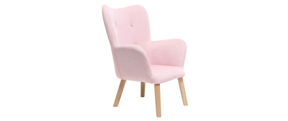 Fauteuil enfant design rose BABY BRISTOL