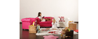 Fauteuil enfant framboise  -  BABY CHESTERFIELD