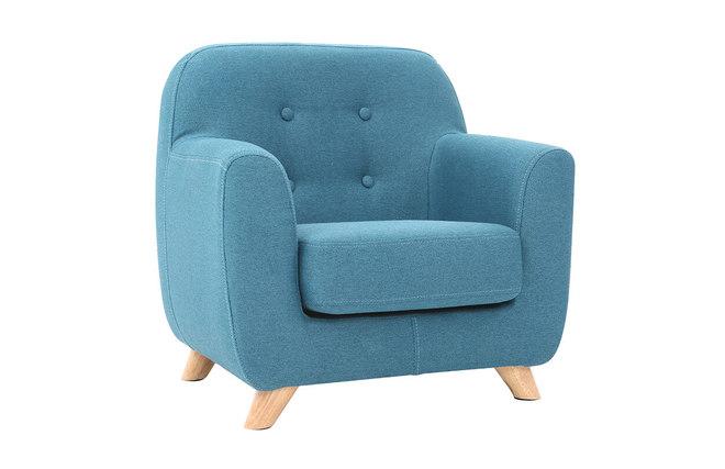 fauteuil enfant scandinave bleu ptrole norkid miliboo - Fauteuil Scandinave Enfant