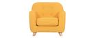 Fauteuil enfant scandinave en tissu jaune NORKID