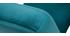 Fauteuil enfant scandinave en velours bleu pétrole BABY ABYSS