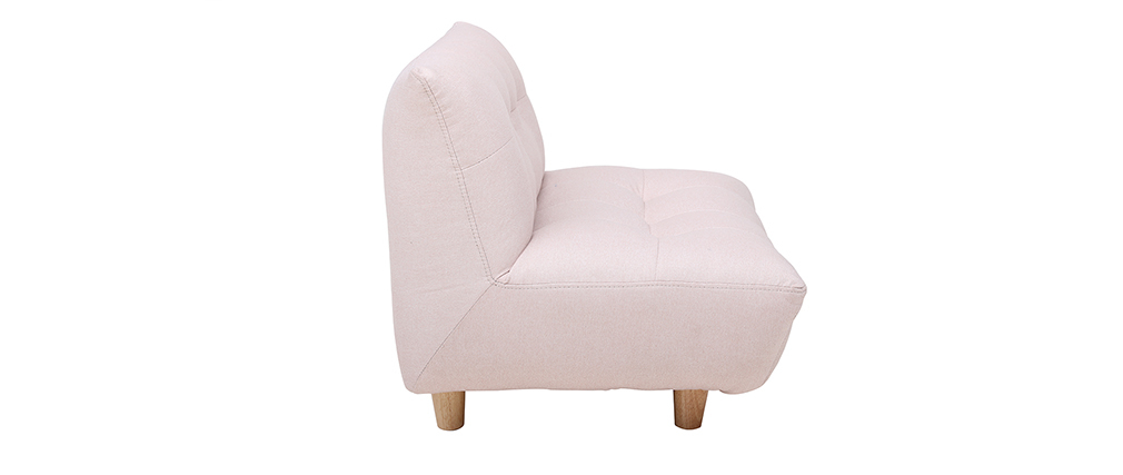 Fauteuil enfant scandinave rose BABY YUMI