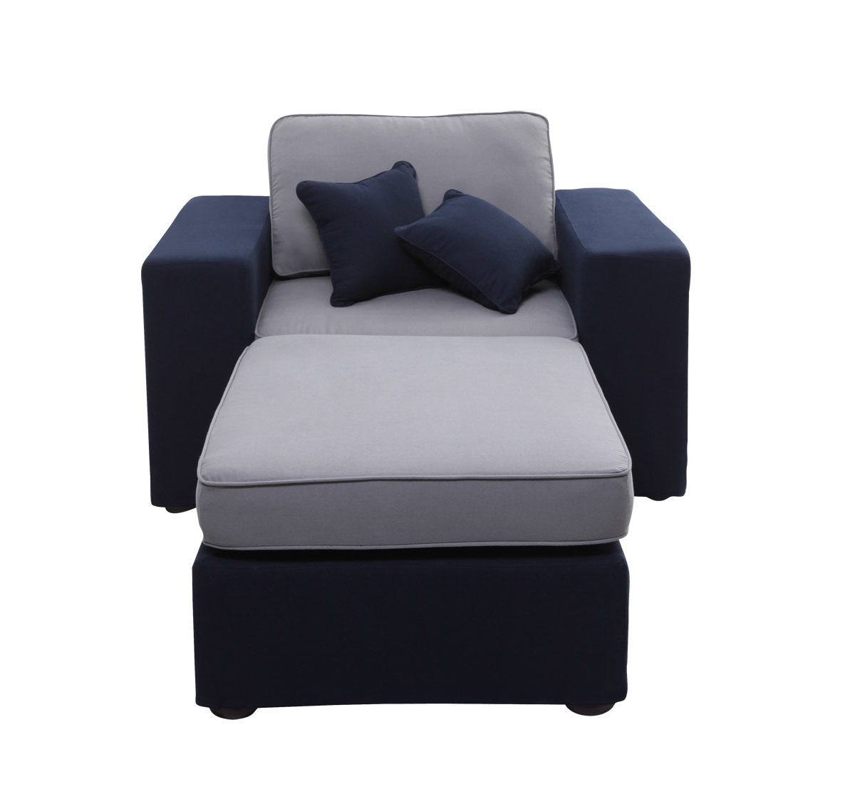 fauteuil m ridienne modulable bleu marine et gris up to you miliboo. Black Bedroom Furniture Sets. Home Design Ideas
