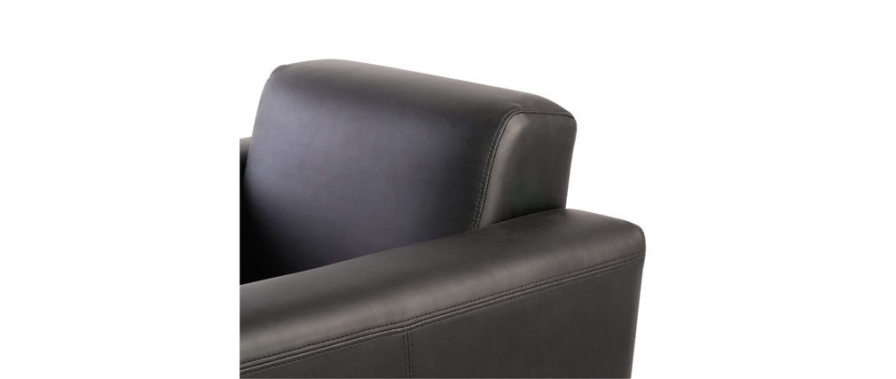 Fauteuil noir pivotant contemporain Boston