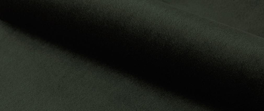 Fauteuil pivotant design en velours kaki KING