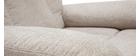 Fauteuil relax électrique inclinable et relevable en tissu crème MOVIE