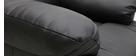 Fauteuil relax électrique releveur noir PHOEBE