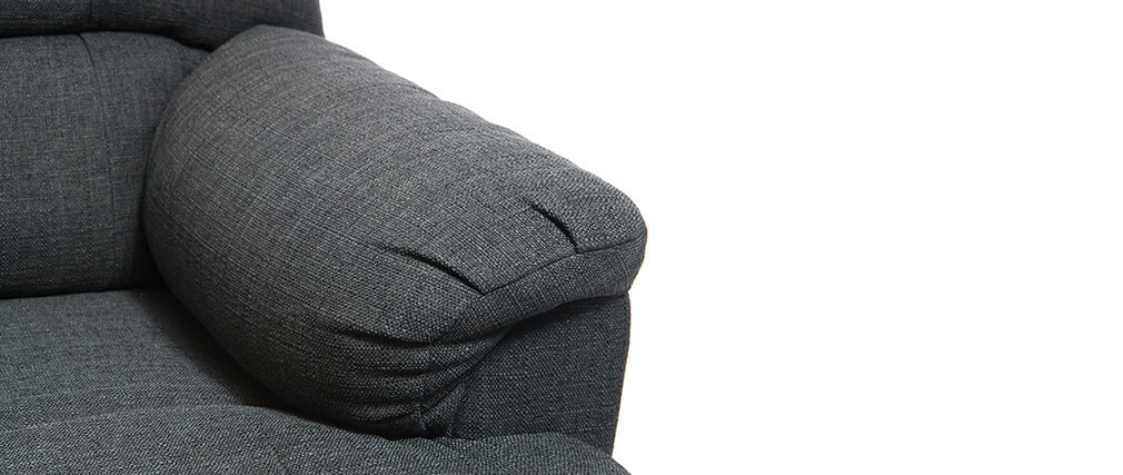 Fauteuil relax électrique releveur tissu gris foncé PHOEBE