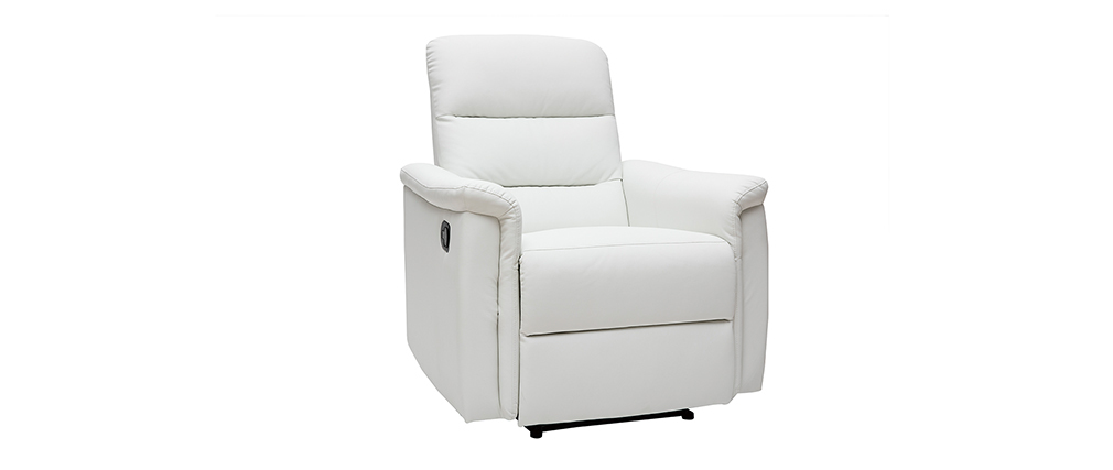 Fauteuil relax manuel blanc MANDALA