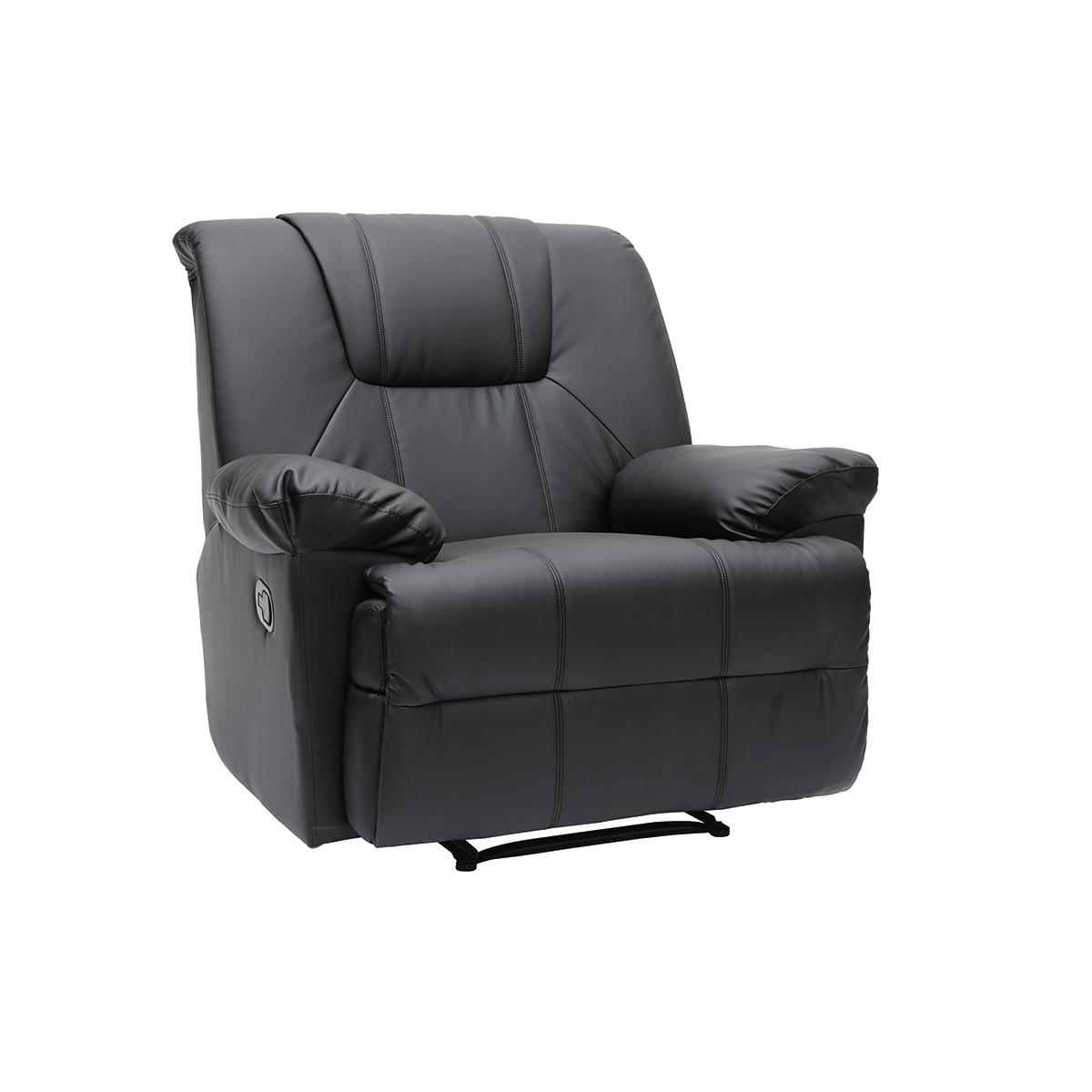 Miliboo fauteuil relax noir manuel ross