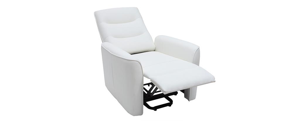Fauteuil relax releveur électrique blanc THESA