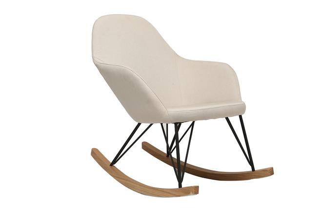 fauteuil relax noir et naturel
