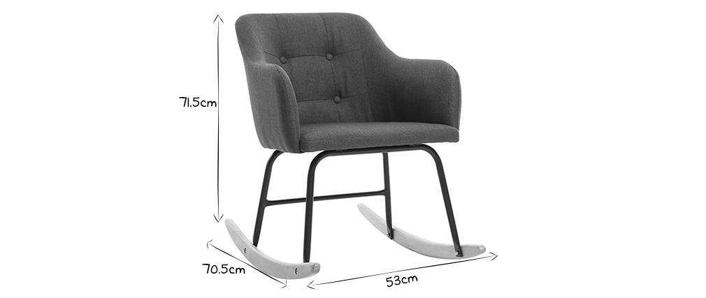 Design Fauteuil Tissu Gris Miliboo Baltik Rocking Chair Foncé ymOn0N8wvP