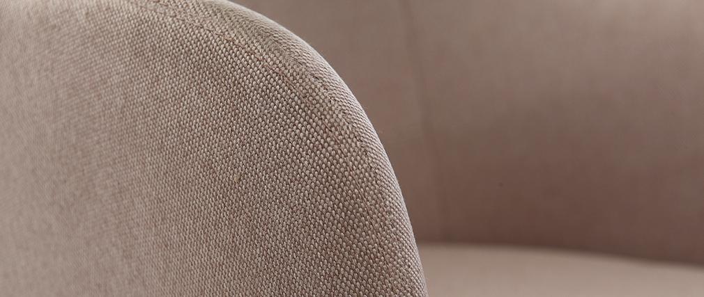 Fauteuil rocking chair design tissu naturel BALTIK