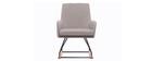 Fauteuil rocking chair design tissu naturel SHANA