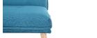 Fauteuil scandinave à combiner tissu bleu canard BENNIE