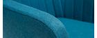Fauteuil scandinave bleu canard et pieds chêne ALEYNA