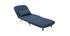 Fauteuil scandinave convertible en tissu bleu foncé AMIKO