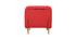 Fauteuil scandinave convertible en tissu rouge AMIKO