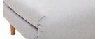 Fauteuil scandinave convertible tissu gris clair AMIKO