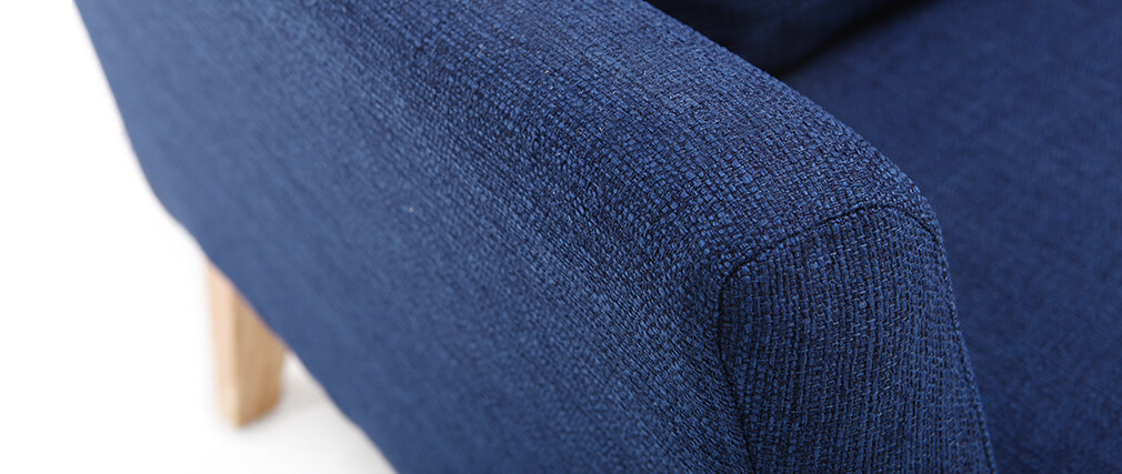 Fauteuil scandinave déhoussable bleu foncé OSLO