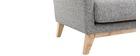 Fauteuil scandinave déhoussable gris clair et pieds bois clair OSLO