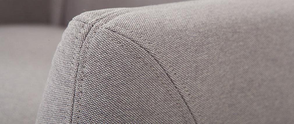 Fauteuil scandinave déhoussable gris clair YNOK