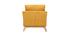 Fauteuil scandinave déhoussable tissu effet velours jaune moutarde OSLO