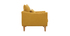 Fauteuil scandinave effet velours jaune moutarde KATE