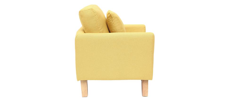 Fauteuil scandinave enfant déhoussable en tissu jaune BABY OSLO