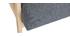 Fauteuil scandinave gris et bois clair ABYSS